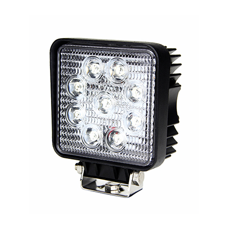 HEADLIGHT LED SQUARE 9 LED 1450LM