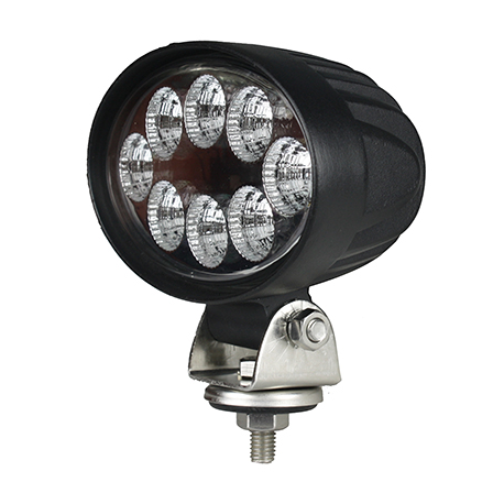 WORKING HEADLIGHT OVAL 8 LED 1600LM