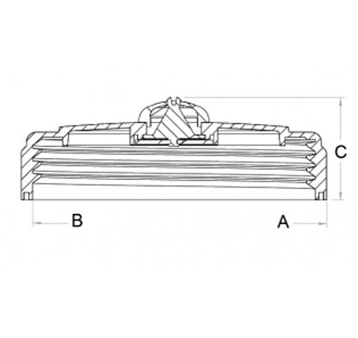 tank lid dimensions