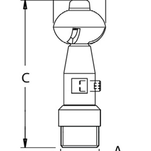 tank rincing head dimensions